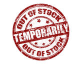 Out of stock temporarily stamp — Stock Vector