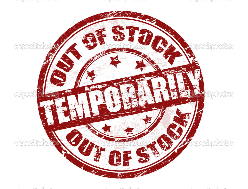 Out of stock temporarily stamp — Stock Vector © roxanabalint ...