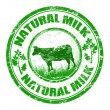 Royalty-Free Stock Vector Image: Natural milk stamp