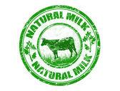 Natural milk stamp — Stock Vector