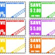 Royalty-Free Stock Vector Image: Discount coupons