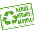 Reuse, reduce and recycle stamp - Imagens vectoriais em stock
