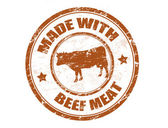 Made with beef meat stamp — Stock Vector