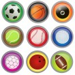 Sport buttons — Stock Vector #5355998