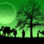 An Islamic sunset background — Stock Vector #5357114