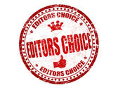 Editors choice stamp — Stock Vector
