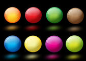 Glossy colorful abstract glass balls — Cтоковый вектор