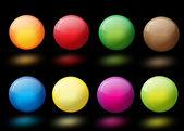Palle di vetro astratto colorato lucido — Vettoriale Stock