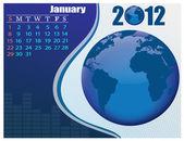 January Bussines Calendar. — Stock Vector