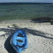 Stock Photo: Kayak ashore on Caribbebeach
