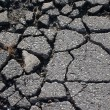 Asphalt cracked — Stock Photo