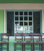 Chairs on porch — Stock Photo