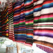 Stock Photo: Mexicblankets for sale