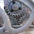 Antique machine gears — Stock Photo #4905385