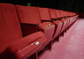Red Theater seats — Stock Photo