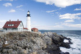 Portland Head Light lighthouse — 图库照片