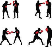 拳击 — 图库矢量图片