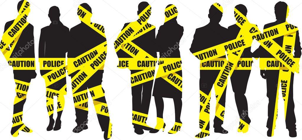 警察磁带 — 图库矢量图像08