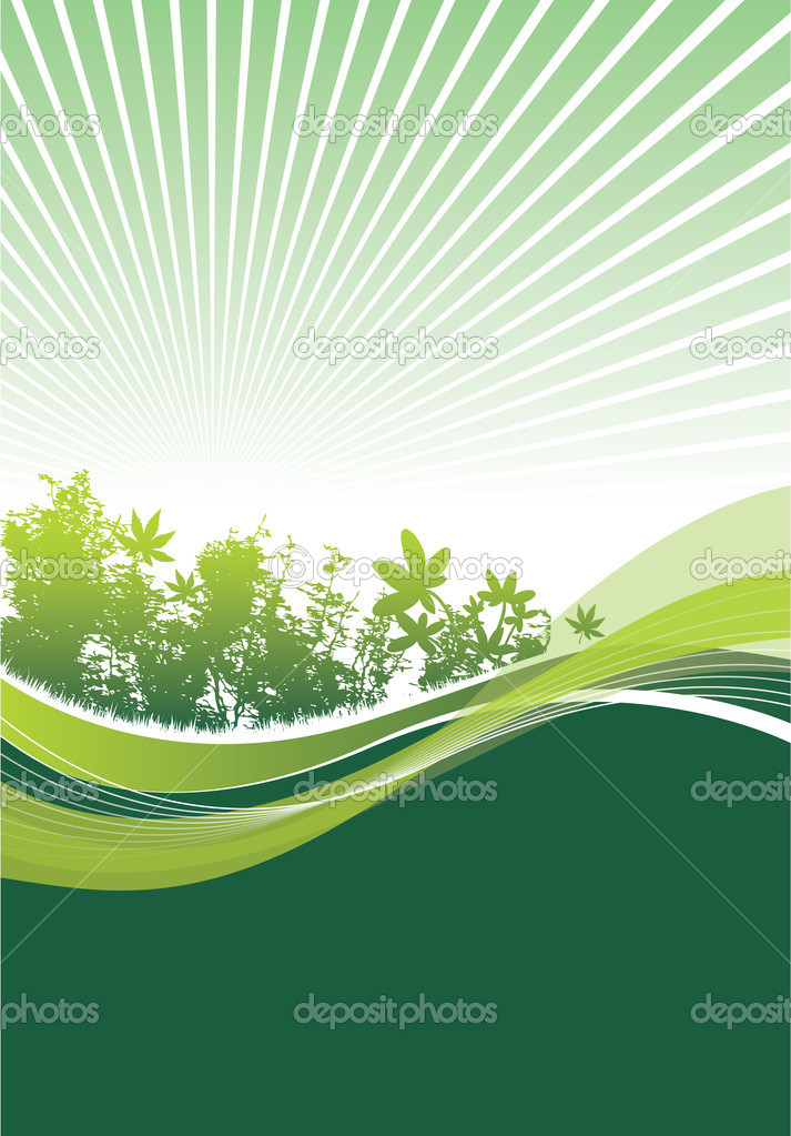 Nature background — Stock Vector #4095849