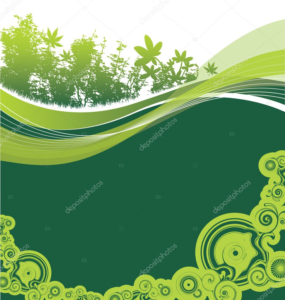 Natural background — Stock Vector #4095875