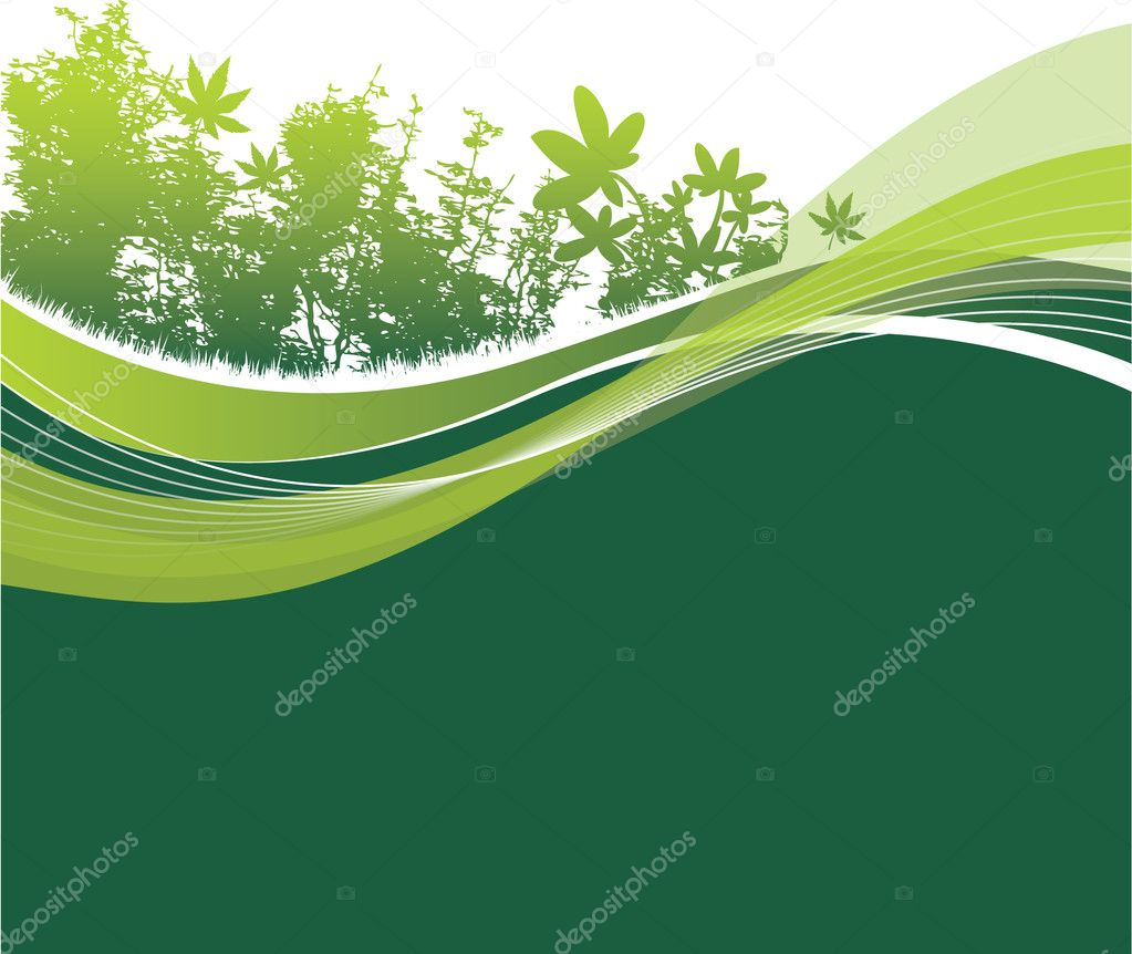 Abstract woodland  Stock Vector #4099229