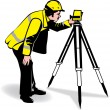 Stock Vector: Surveyor