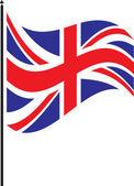 Bandiera britannica — Vettoriale Stock