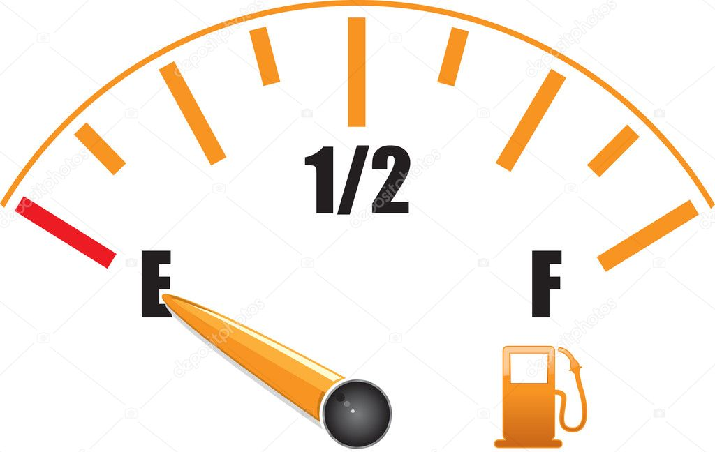 Petrol gauge — Stock Vector #4107550