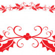 Christmas holly border — Foto Stock