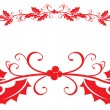 Stock Photo: Christmas holly border