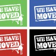 Stock Photo: We have moved