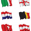 Set of flags — Stock Photo #4605025
