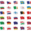 Set of flags — Stock Photo