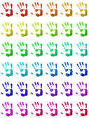 Colorful handprints — Stock Photo