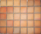 Terracotta floor tiles — Stock Photo