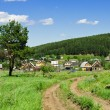 Russian village outskirts — Stock Photo