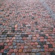 Stock Photo: Old cobblestone pavement horizontal