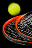 Tennis-ball and two racket — Stock Photo