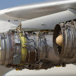Stock Photo: Aircraft jet engine