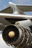 Aircraft jet engine — Stock Photo