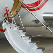 Civil airplane air-stairs — Stock Photo