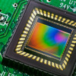 Stock Photo: CCD sensor on card