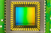 CCD sensor on a card — Stock Photo