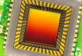 CCD sensor on a card — Stock Photo