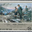 Stock Photo: Postage stamps devote to Kim Il-sung, Korea