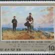 Postage stamps devote to Kim Il-sung, Korea — ストック写真