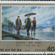 Postage stamps devote to Kim Il-sung, Korea — 图库照片