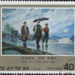 Postage stamps devote to Kim Il-sung, Korea — Stock Photo