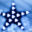Decoration star and garland — Stock Photo