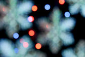 Christmas decoration lights — Stock Photo